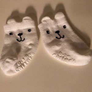 ** 8 for $25 ** Infant Bear Socks Size 0-3m